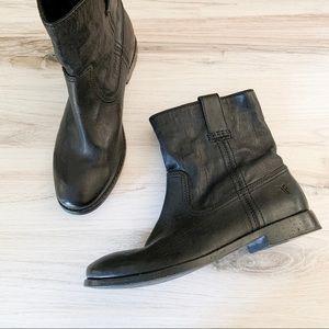 Frye Anna Shortie Leather Bootie